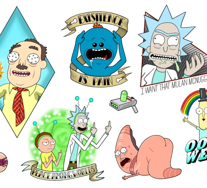 Rick Morty neotraditional comictattoo comicdesign cartoontattoo colorful Meeseeks rickandmortytattoo