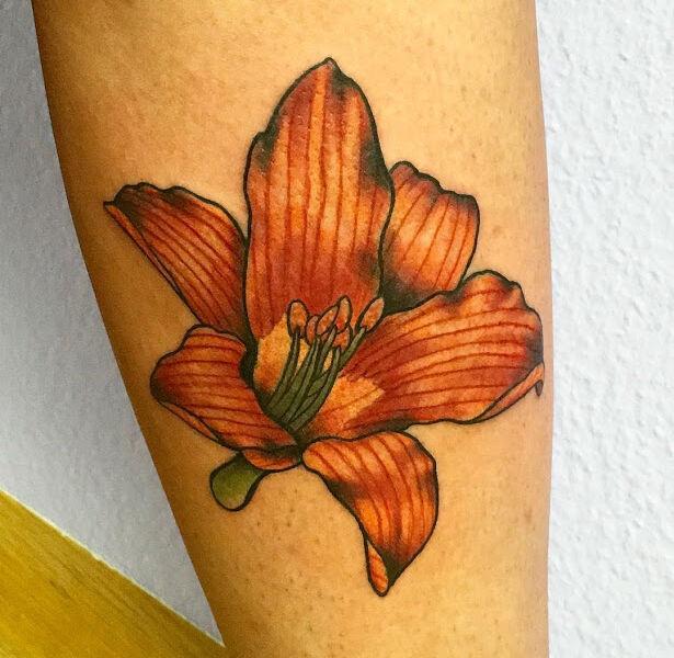 Beautiful Orchid Tattoo Design