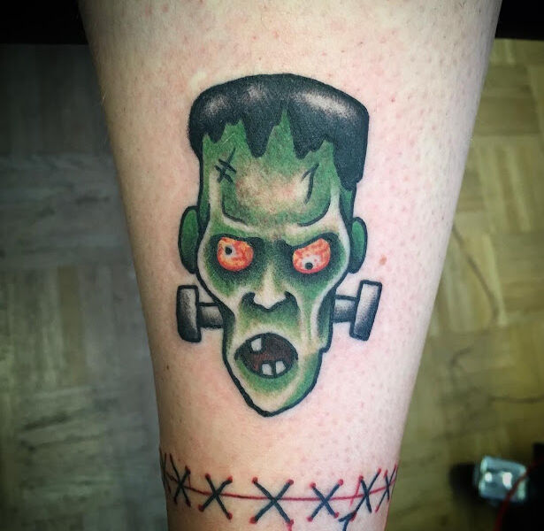 Crazy Frankenstein tattoo design