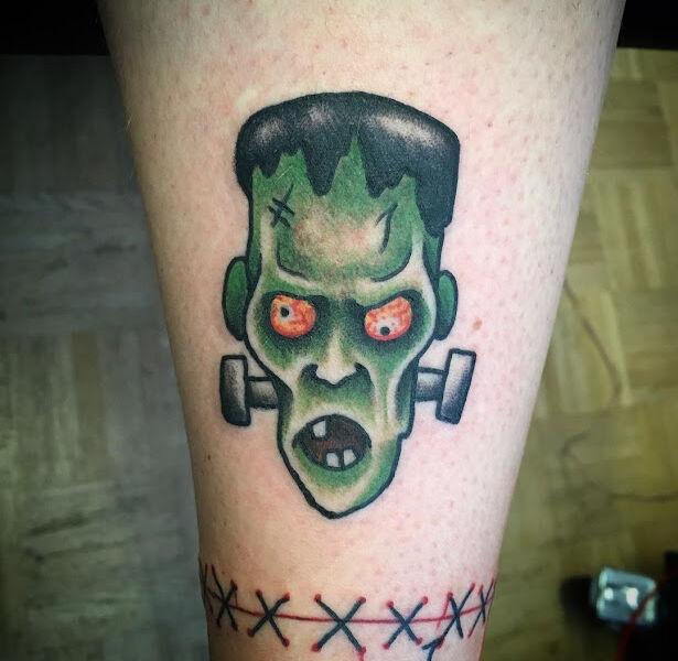 Crazy Frankenstein tattoo design