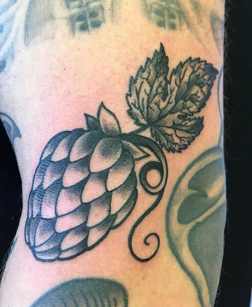 Hops Hopfen Tattoo design Beer