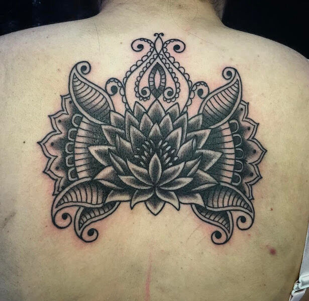 Lotus Ornamental Womans Tattoo Design Beautiful
