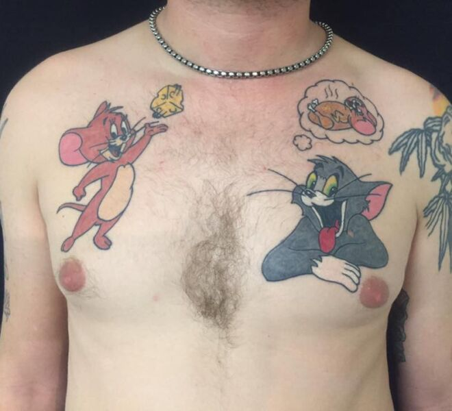 Tom and Jerry Tattoo