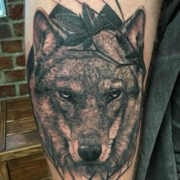 beautiful wolf tattoo design