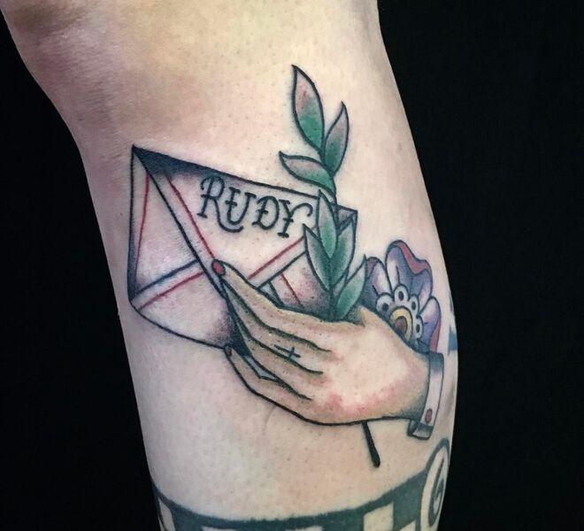skinhead tattoo design rudy