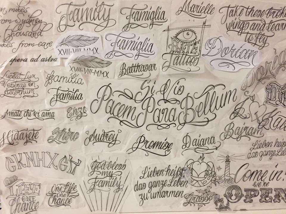 Tattoo Lettering Styles Basel Tattoo Body Art Studio Baseltattoo Baseltattoo
