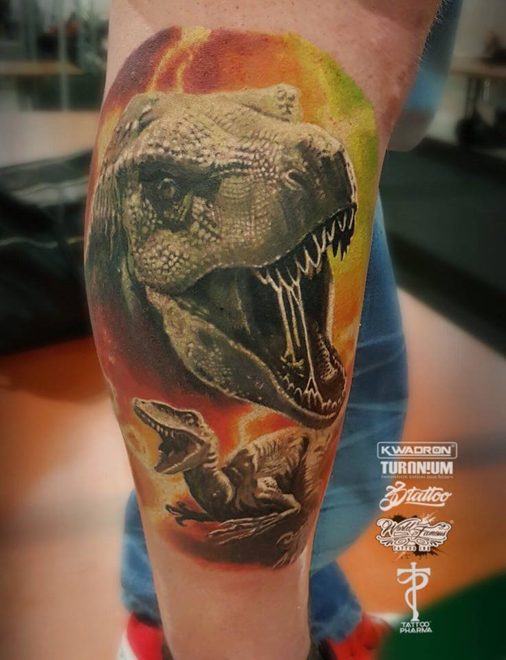 Realistic Dinosauer Tattoo Color Basel Studio Art Basel Tattoo Body Art Studio Baseltattoo Baseltattoo